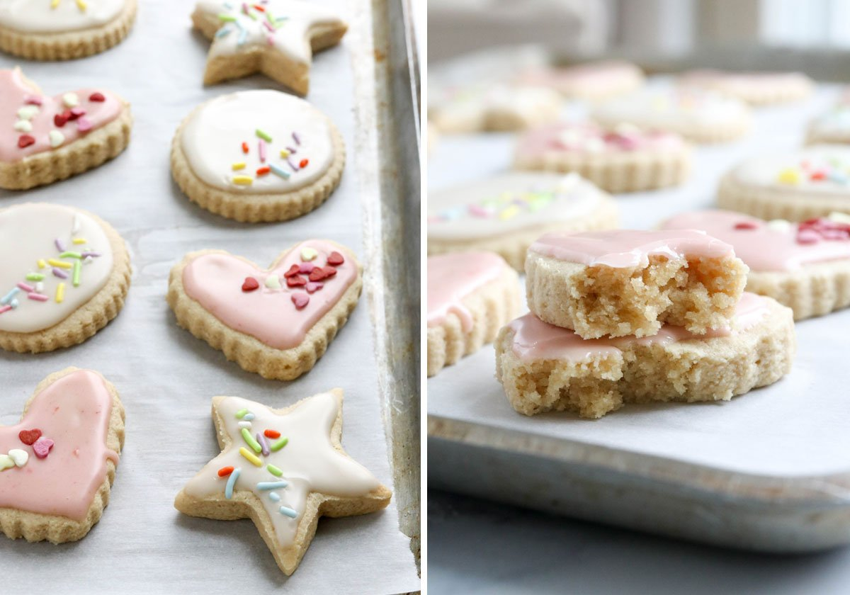 texture of almond flour sugar cookies