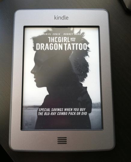 the girl with the dragon tattoo on a kindle