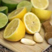 Citrus, ginger, and garlic