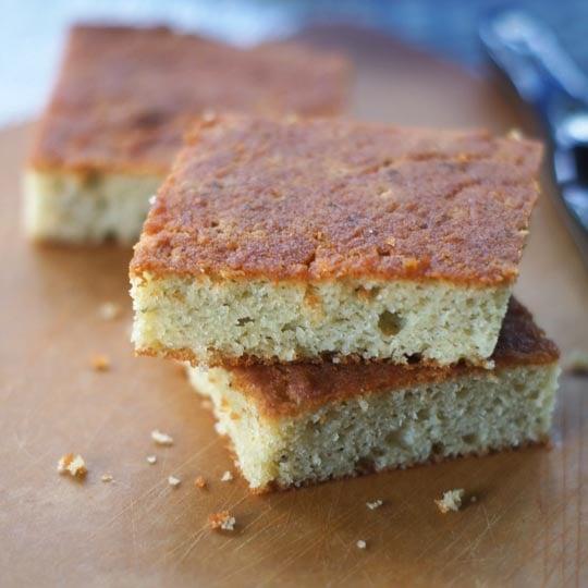 slices of grain free focaccia