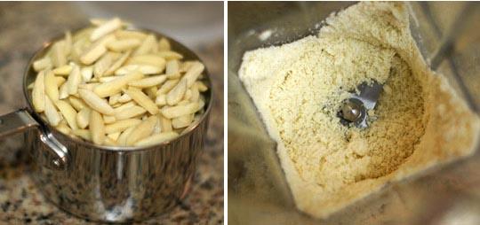 slivered almonds ground in a vitamix