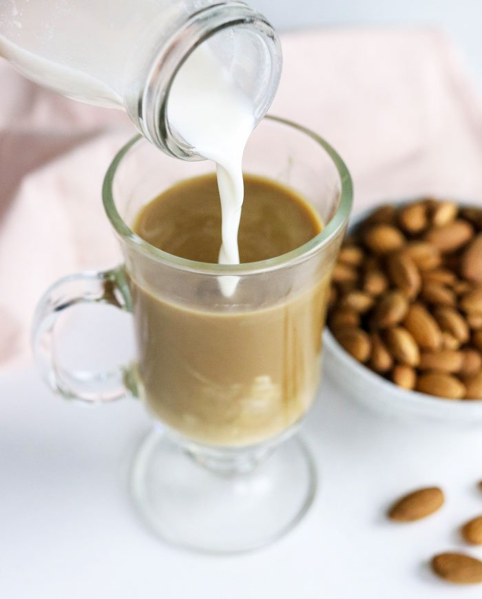 healthy coffee creamer with almond milk