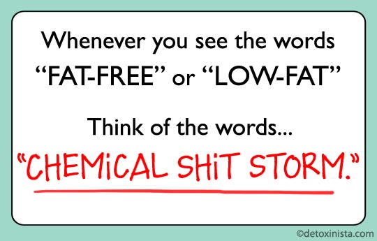 poster about low-fat and fat-free
