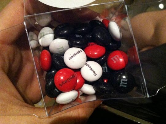 small package of m&m's