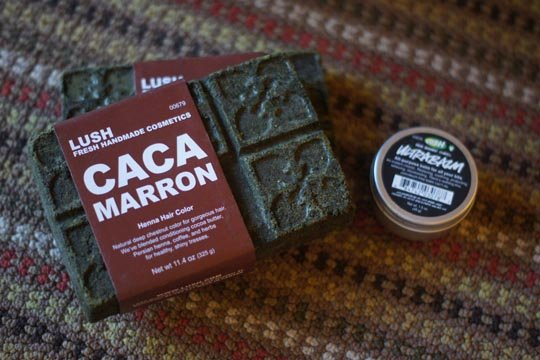 lush caca marron henna hair dye