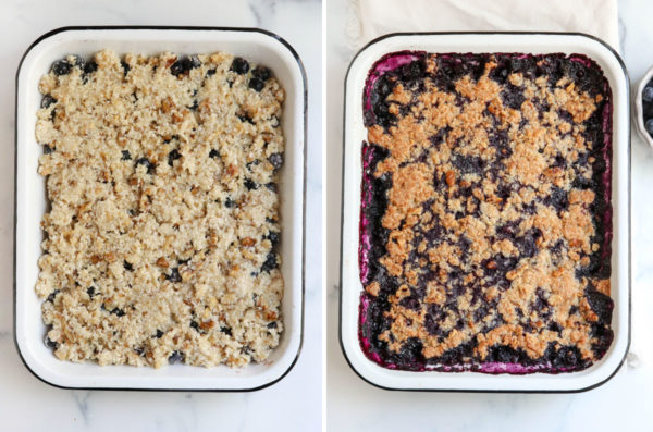 crumble topping added and baked until golden
