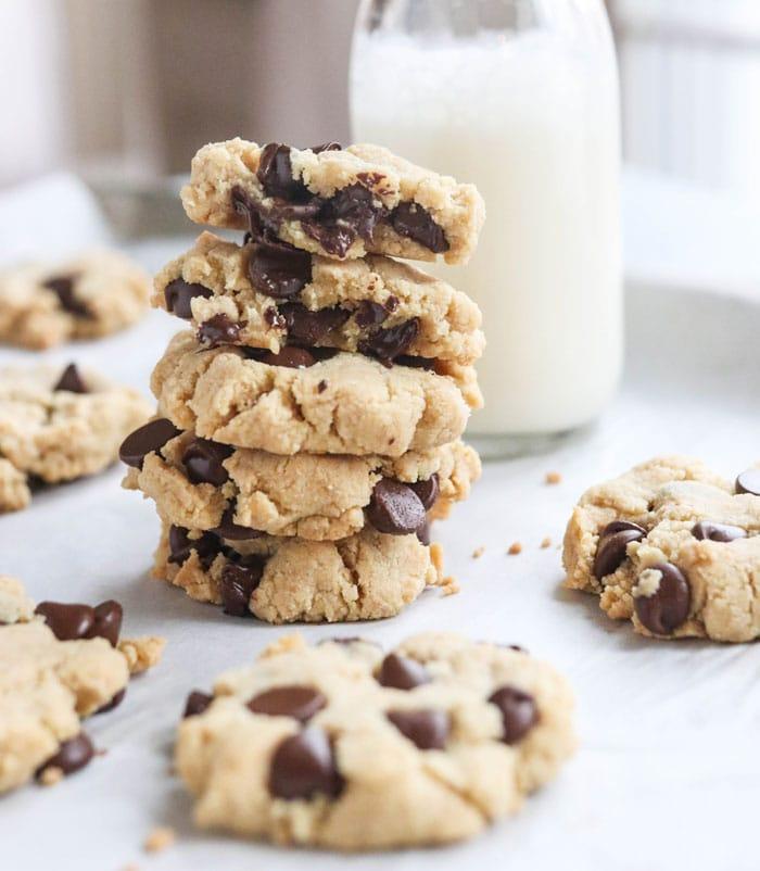 stack of paleo cookies