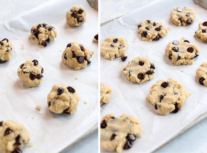 paleo cookies on pan