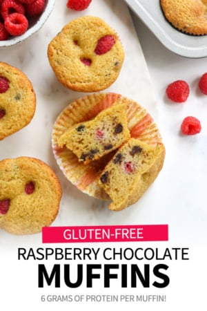 raspberry chocolate muffins pin