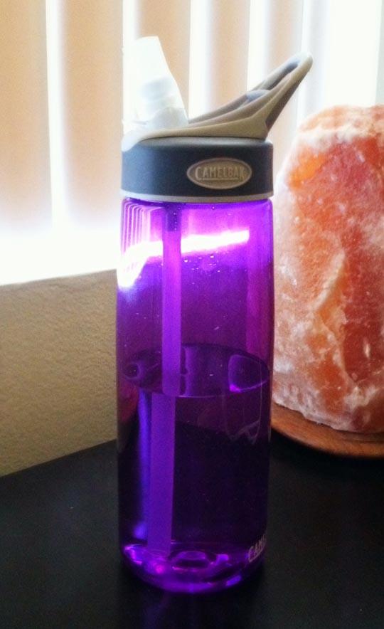 purple camelbak water bottle