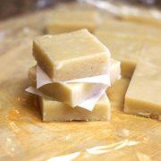 Raw macadamia nut fudge squares