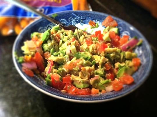 bowl of homemade guacomole
