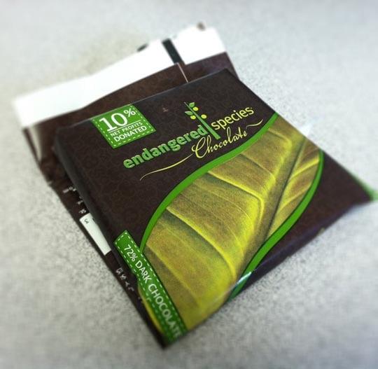package of endangered species chocolate