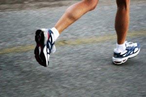 legs in a run stance