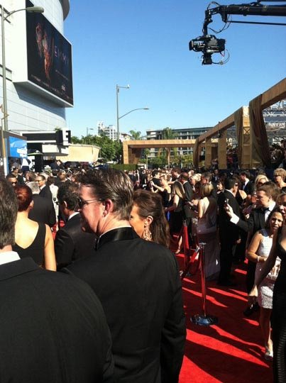 the red carpet at the emmy awards