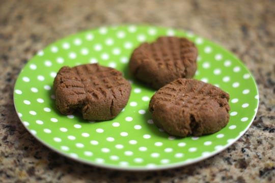 cookies on a plate made with almond pulp