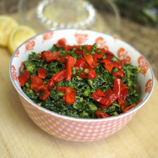 massaged kale salad in a bowl