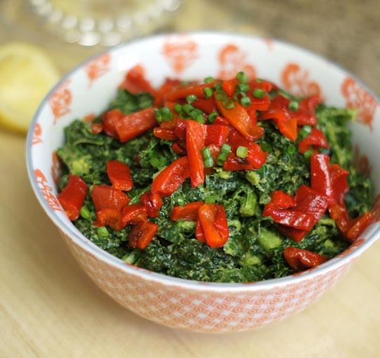 bowl of massaged kale salad