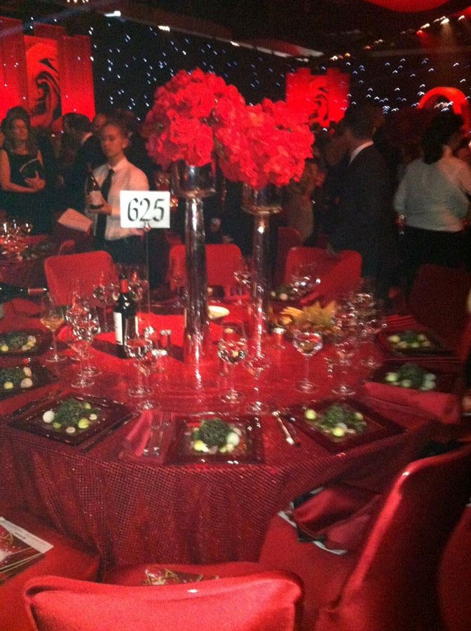 a table at the governor's ball