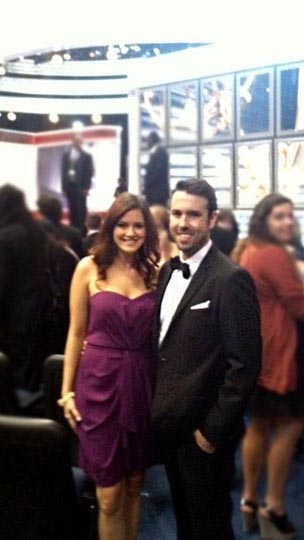 megan and husband at the emmy awards