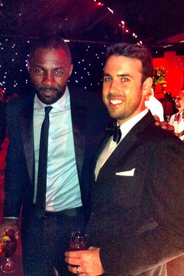 Austin and Idris Elba at the emmy awards