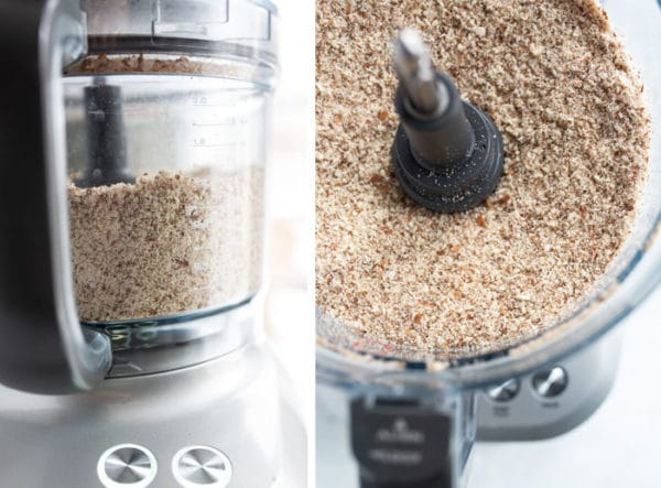 ground almonds in food processor