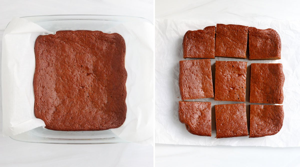 baked pumpkin bars in the pan and sliced