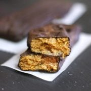 cross section of healthy homemade butterfingers