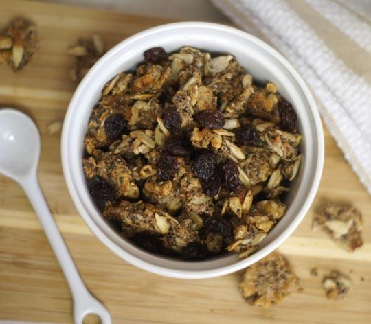 grain-free granola in a small bowl