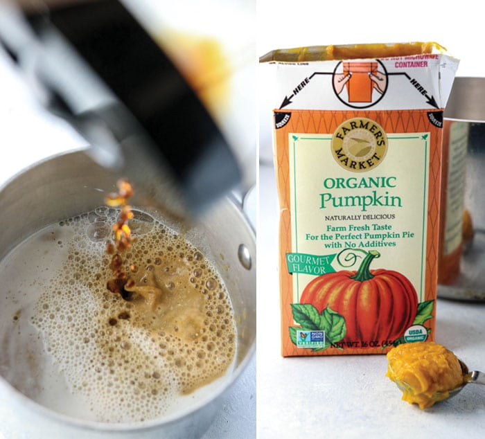 brewed coffee pumpkin latte
