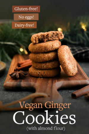 ginger cookies pin for pinterest