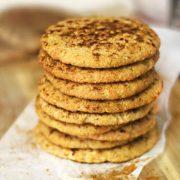 stack of snickerdoodle cookies