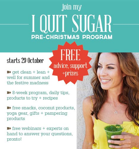 I quit sugar pre-christmas program