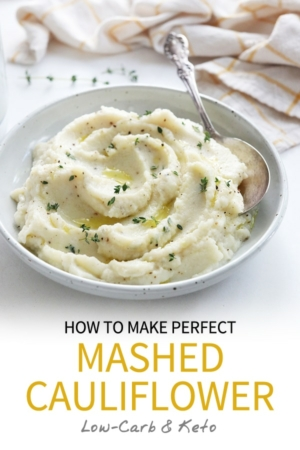 mashed cauliflower pin for pinterest