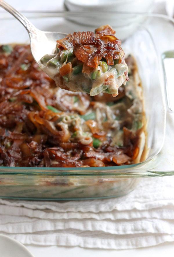 spoonful of healthy green bean casserole
