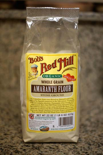 bag of whole grain amaranth flour