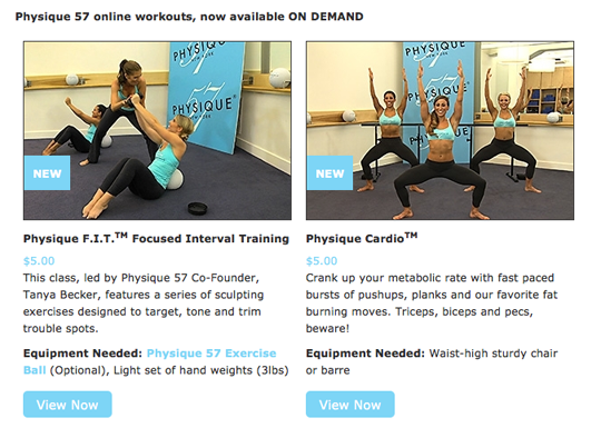 physique 57 workouts