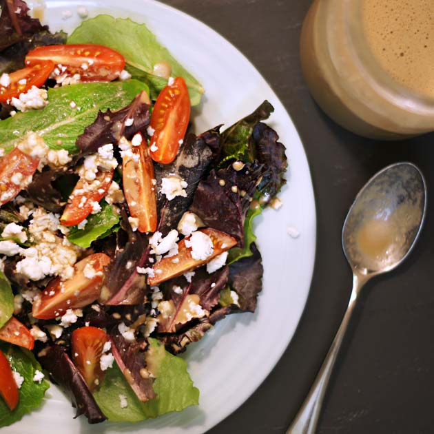 salad with honey balsamic dressing