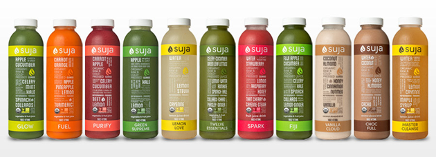 suja juice bottles