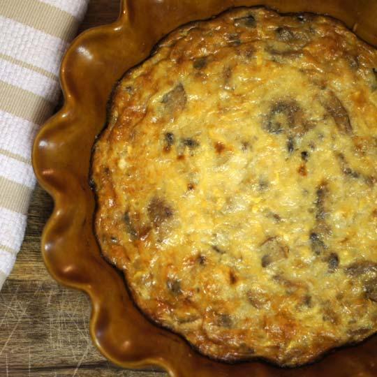 baked mushroom and gruyere pie
