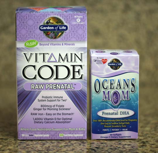 box of vitamin code and oceans mom