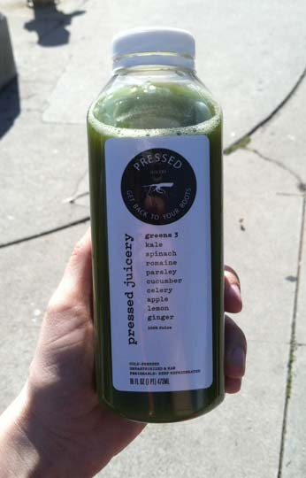 pressed green juice