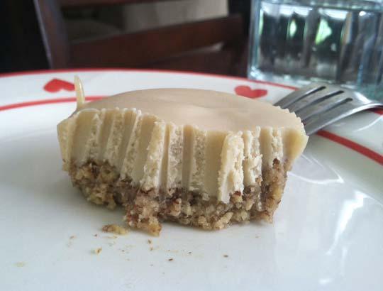 key lime tartlet on a plate