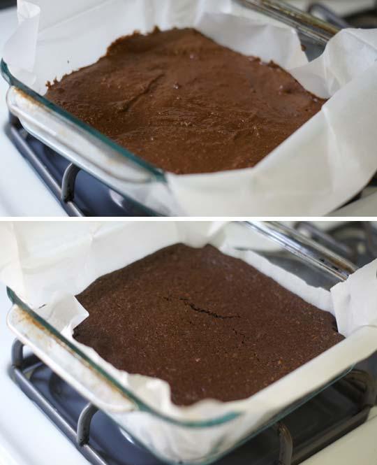 baked fudgy almond pulp brownies