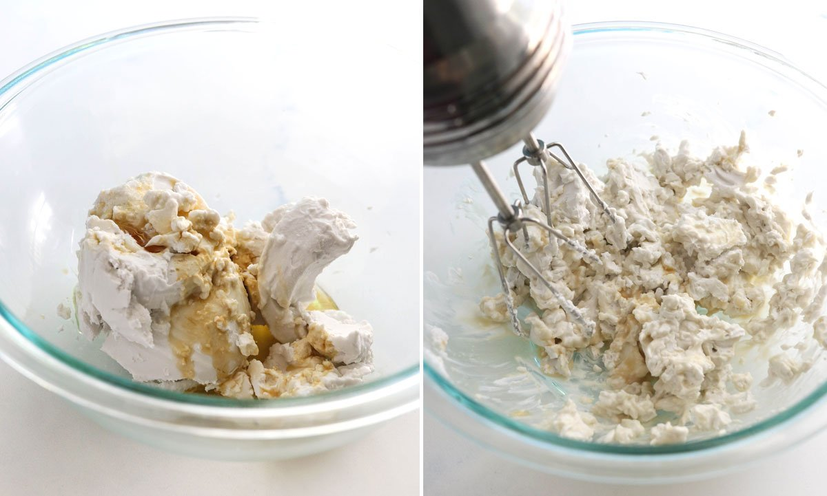 coconut cream getting mixed