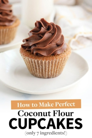 coconut flour cupcakes pin for pinterest