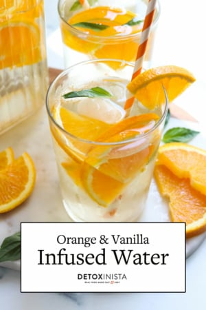 orange infused water pin
