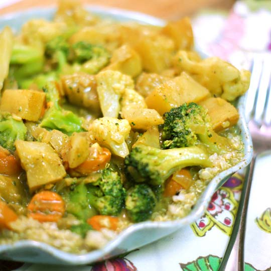 coconut curry over quinoa