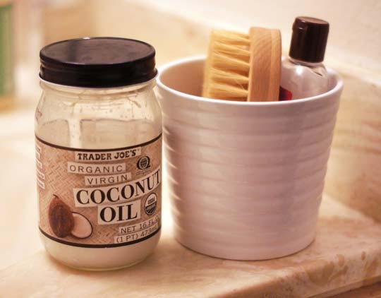 jar of organic coconut oil