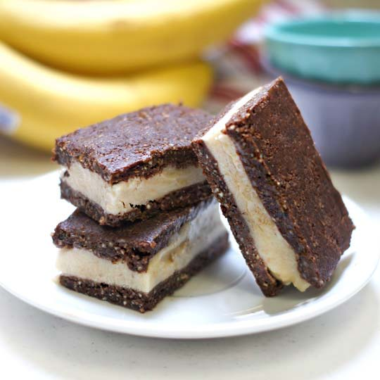 no-bake ice cream sandwiches on a plate